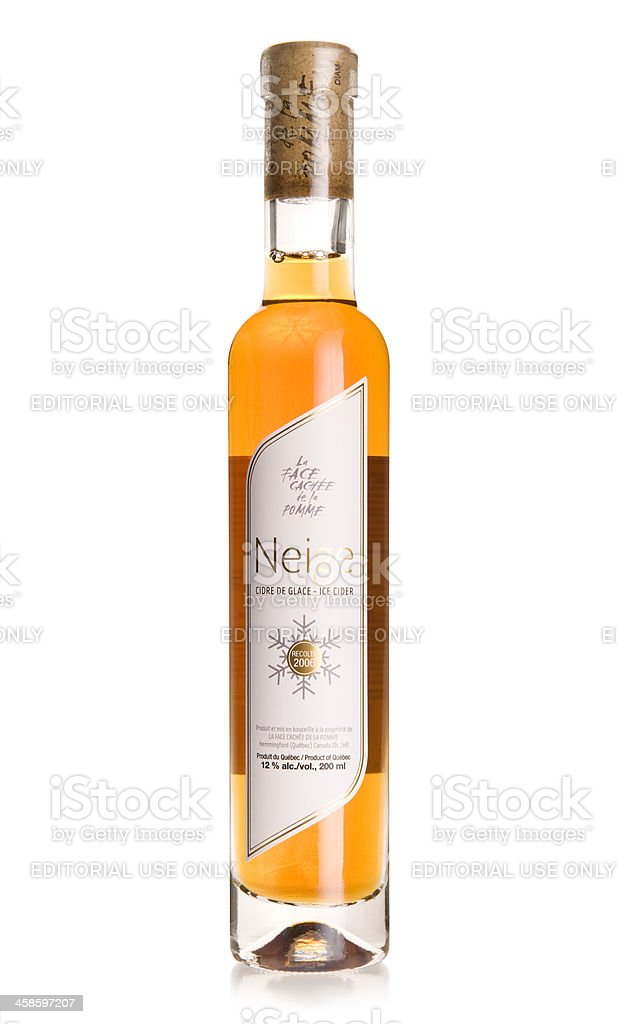 Ice Cider Bottle royalty-free stock photo