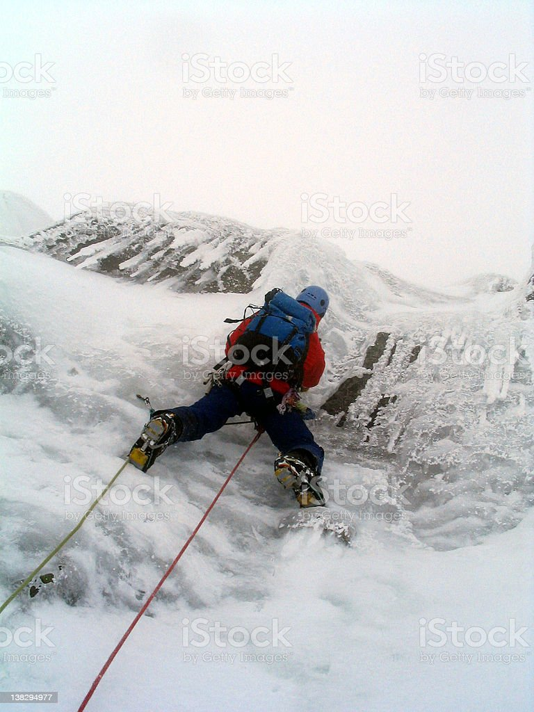 Ice climber in Scotland royalty-free stock photo
