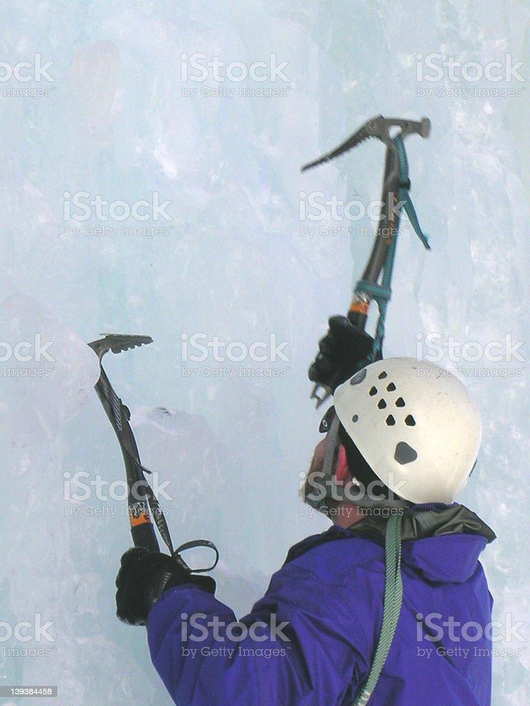 Ice Climber stock photo