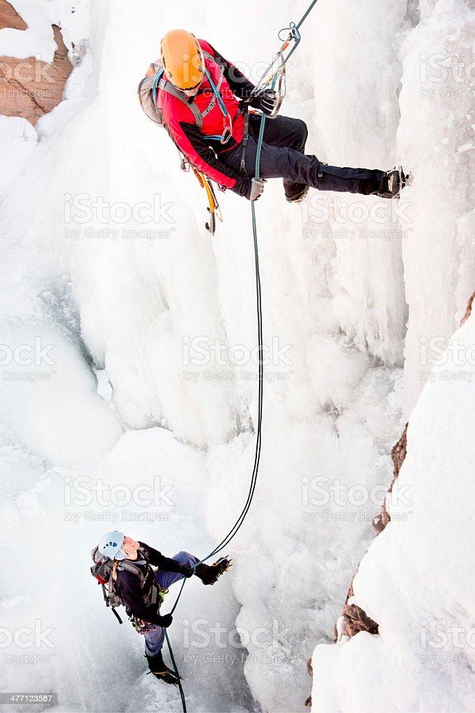 Ice Climbing Couple stock photo