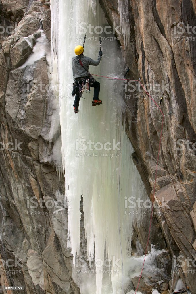 Ice Climbing In Colorado royalty-free stock photo