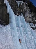 ice climbing in the Swiss Alps