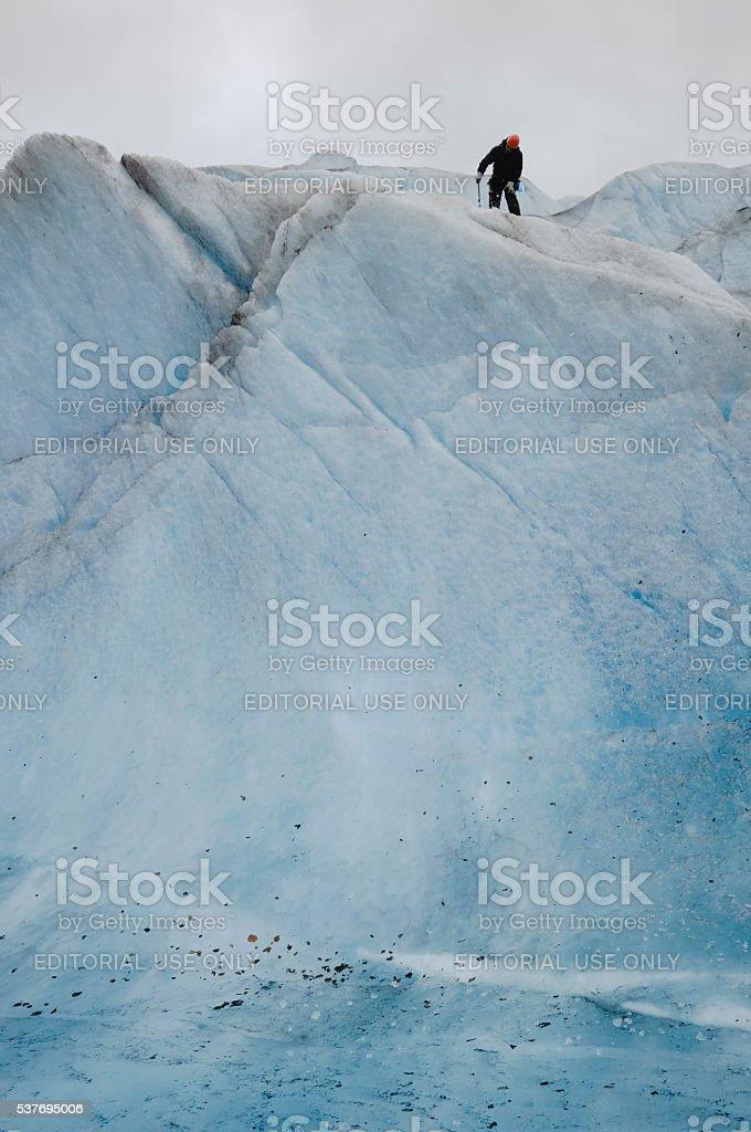 Ice climbing Mendenhall Glacier, Juneau, Alaska stock photo