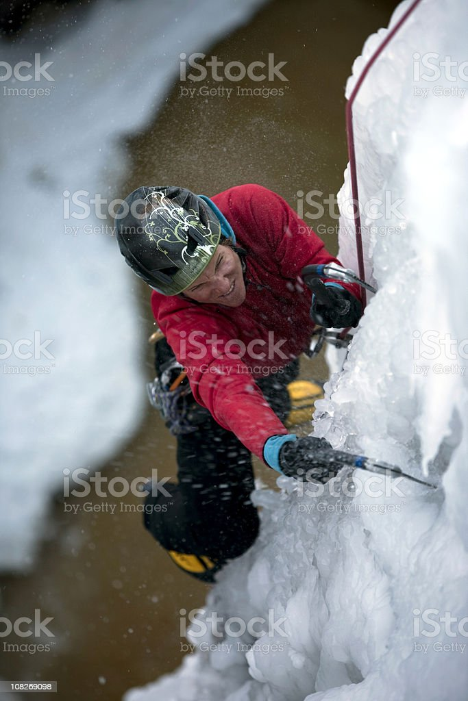 Ice Climbing royalty-free stock photo