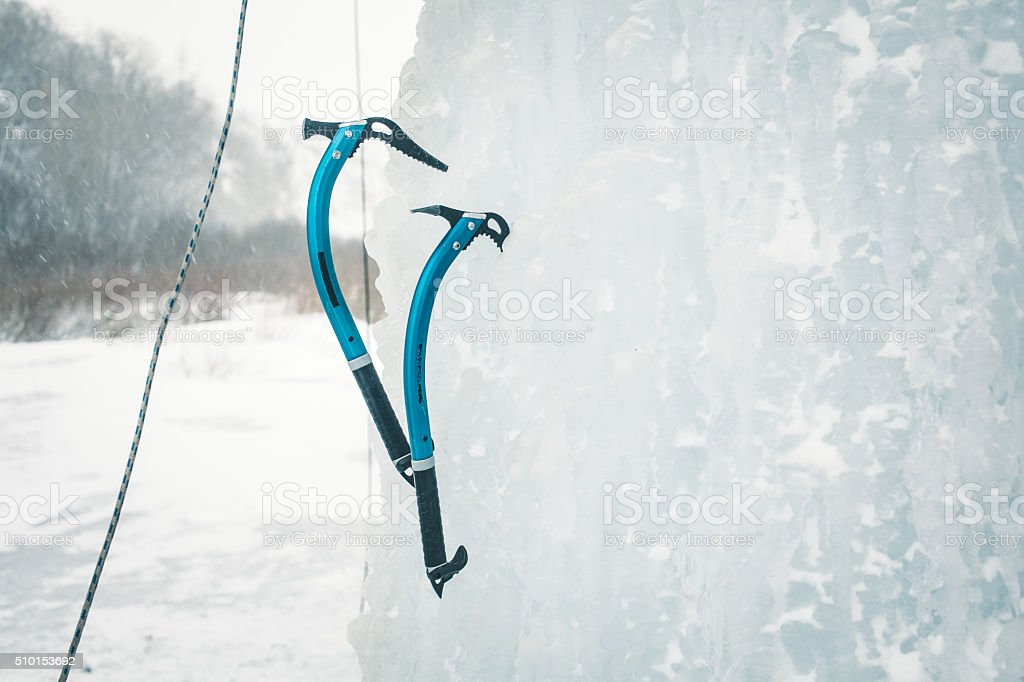 Ice climbing tool. stock photo