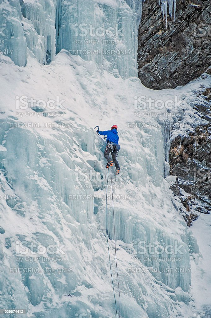 Ice Climbing – Valdez, Alaska stock photo
