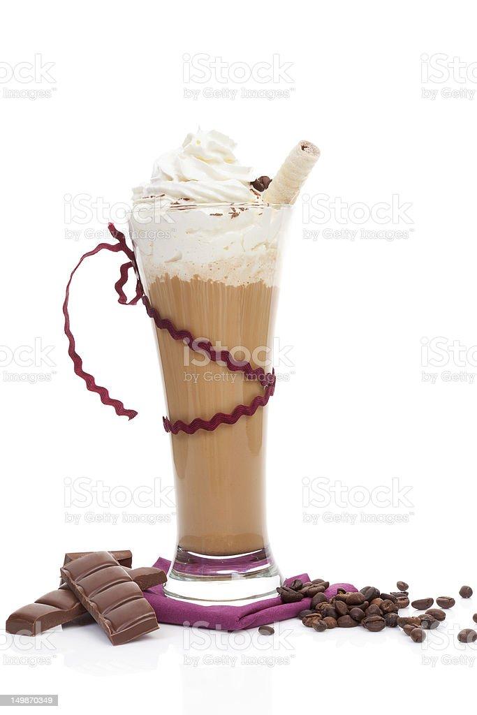 Ice coffee background. royalty-free stock photo