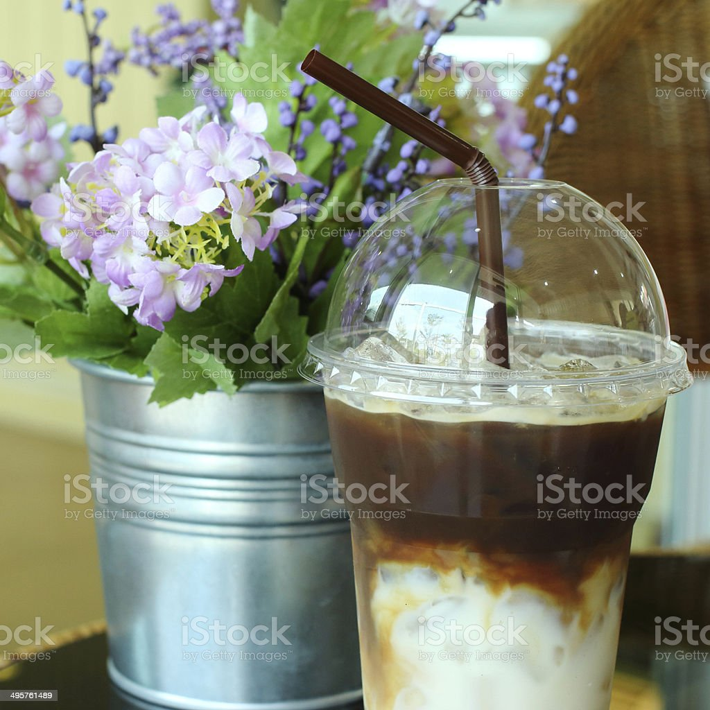 Ice coffee drink royalty-free stock photo