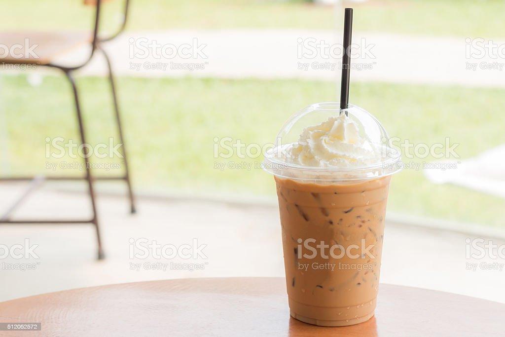 Ice coffee stock photo
