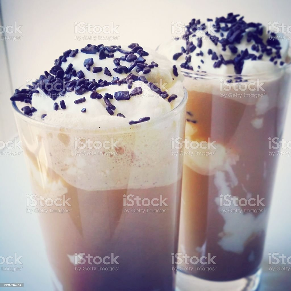 Ice Coffee stock photo