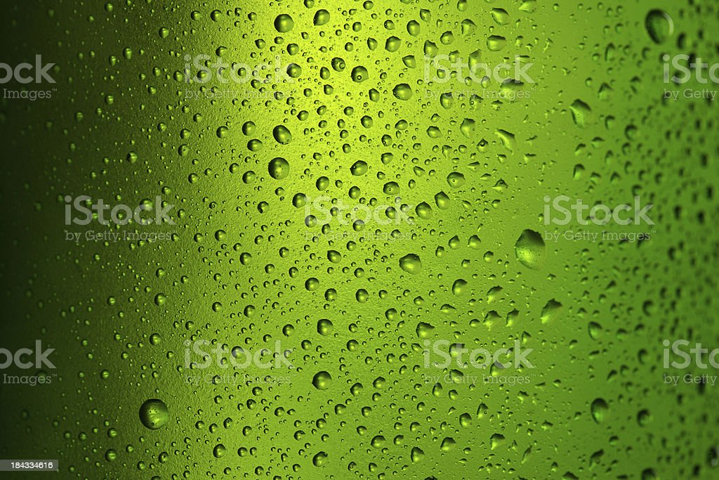 Ice cold  beer bottle stock photo