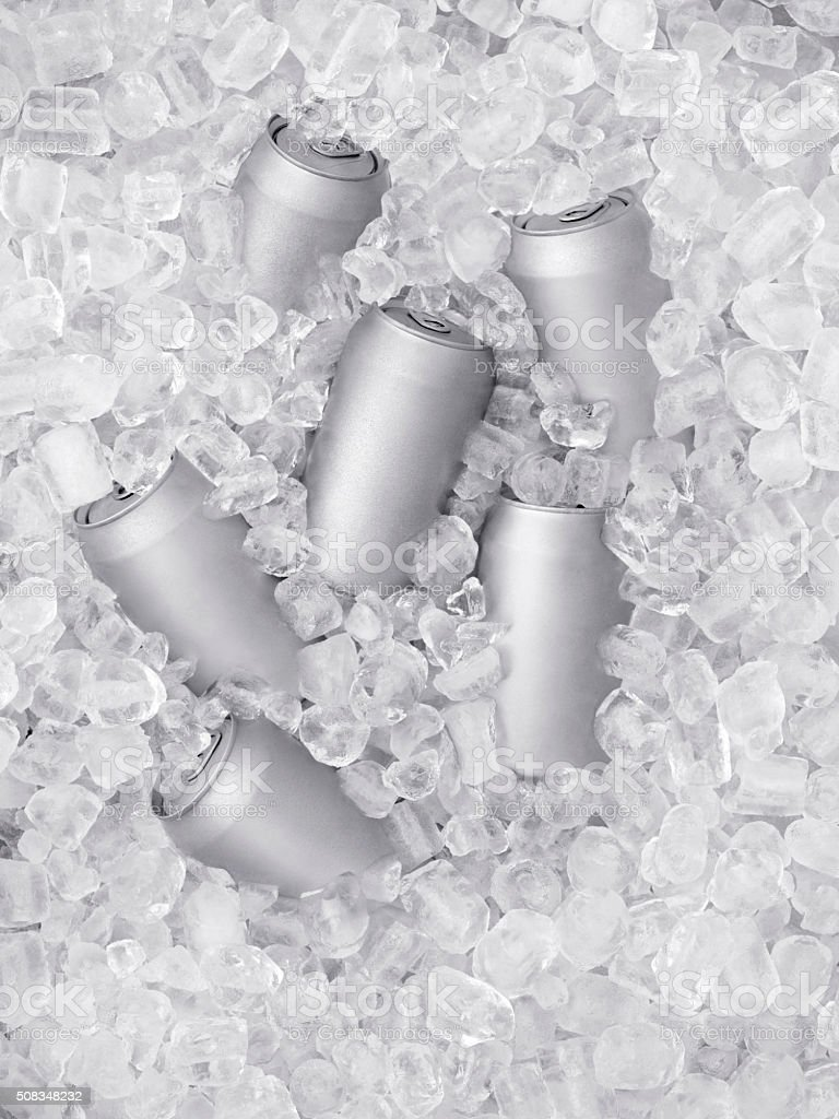 Ice Cold Beer on Ice stock photo