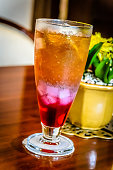 ice cold beverage in Indonesian restaurant