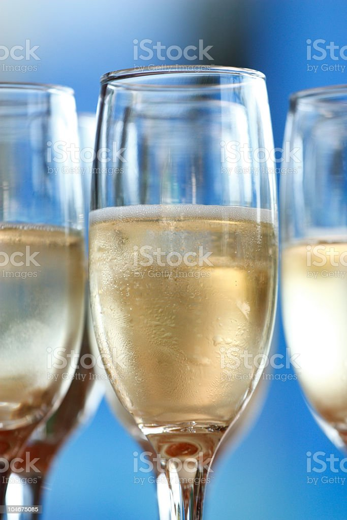 Ice cold champagne. stock photo