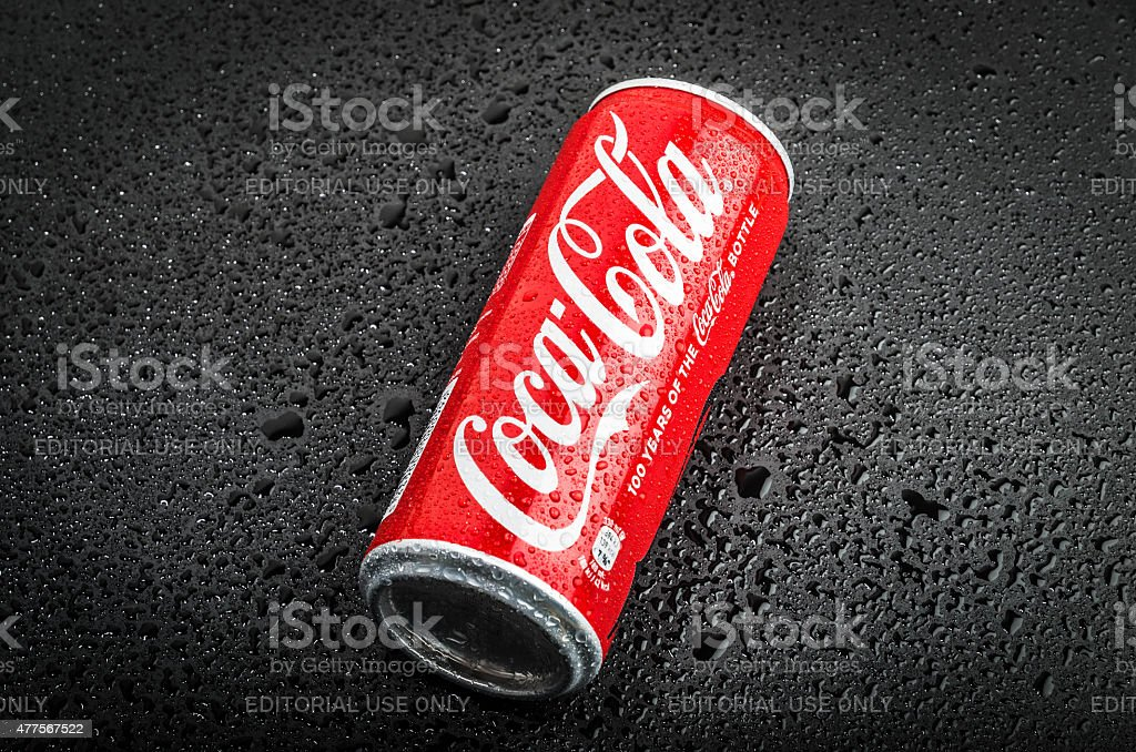 Ice Cold Coca Cola Beverage stock photo
