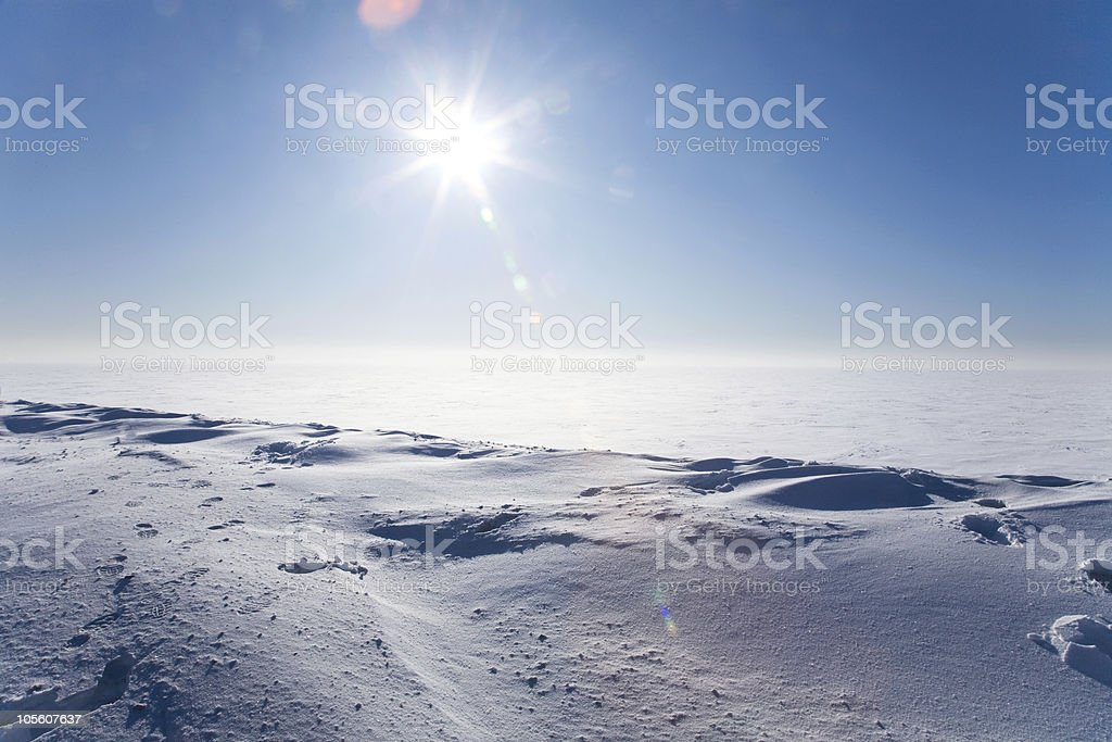 Ice cold desert stock photo