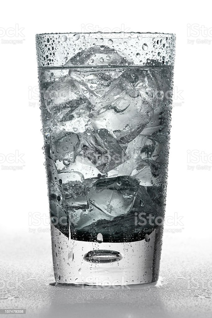 Ice cold glass of soda royalty-free stock photo