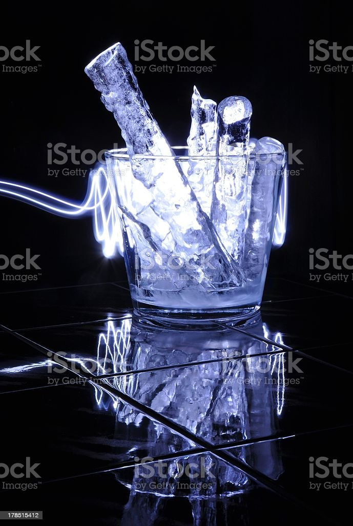 Ice container royalty-free stock photo