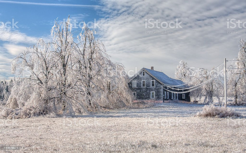 Ice Covered House royalty-free stock photo