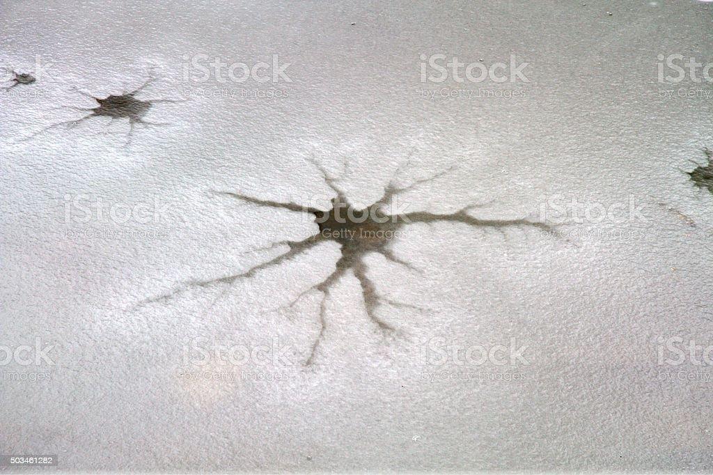 ice crack stock photo