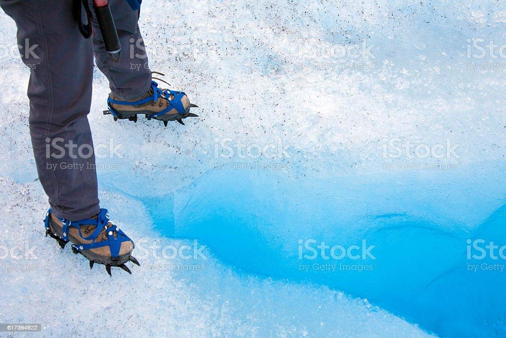 Ice Cravasse - Perito Moreno Glacier - Argentina stock photo