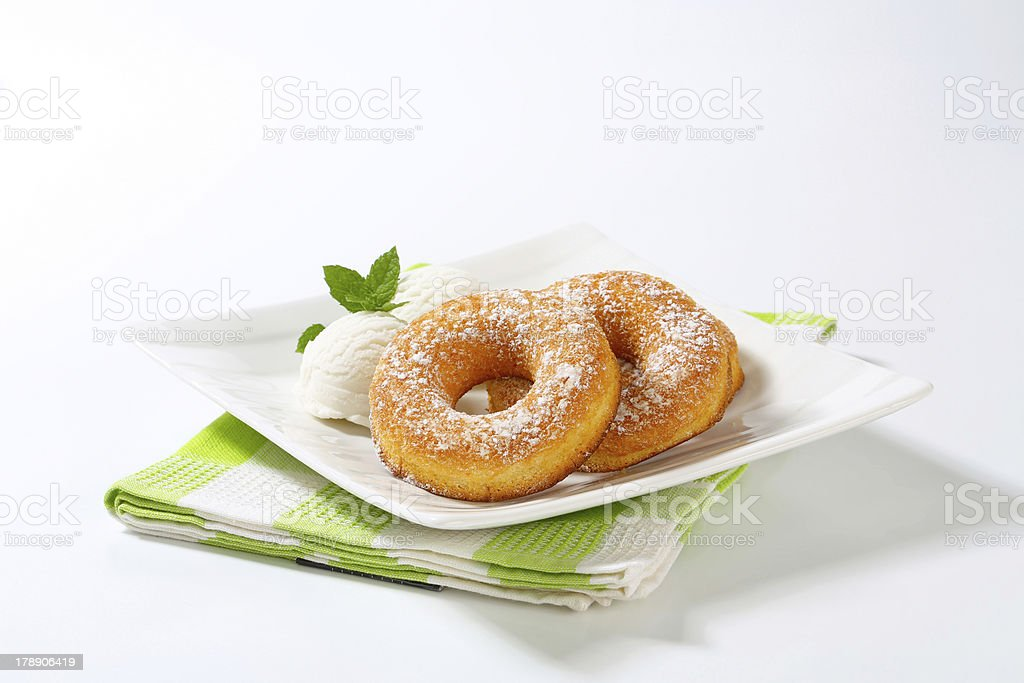 ice cream and donuts royalty-free stock photo