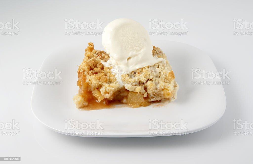 Ice Cream Apple Crisp stock photo