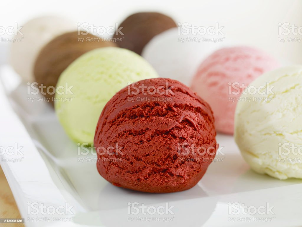 Ice Cream balls stock photo