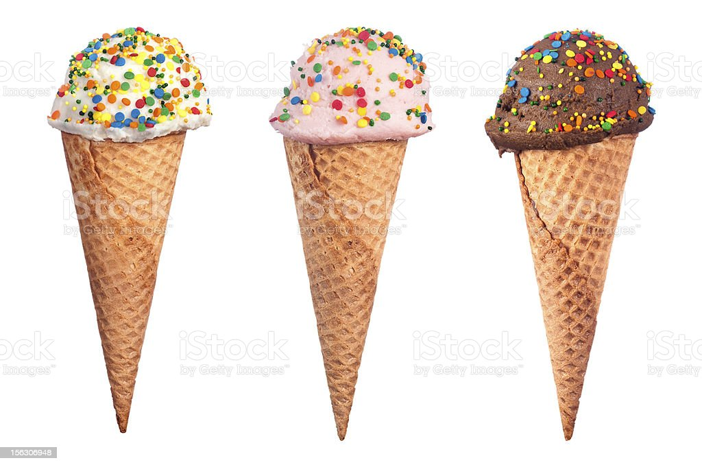 Ice Cream Cone Assortment stock photo
