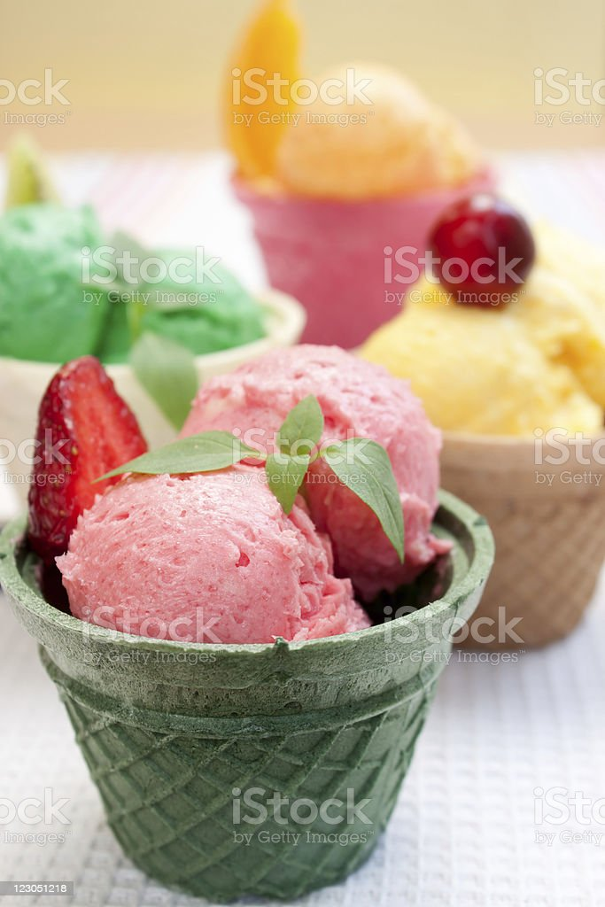 Ice Cream Cone stock photo