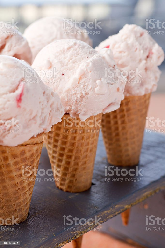Ice Cream Cones royalty-free stock photo