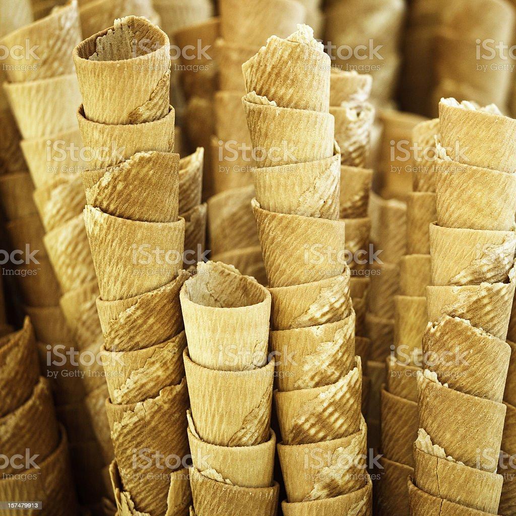 ice cream cones royalty-free stock photo
