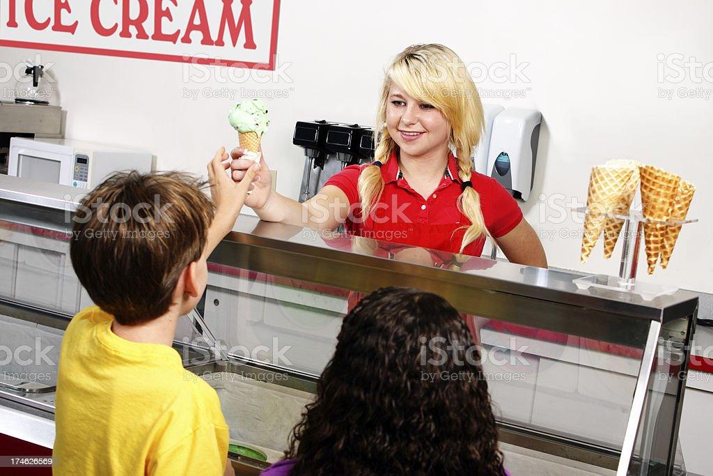Ice Cream Customers royalty-free stock photo