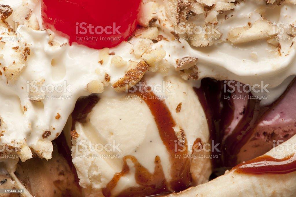 Ice Cream Dessert Macro royalty-free stock photo