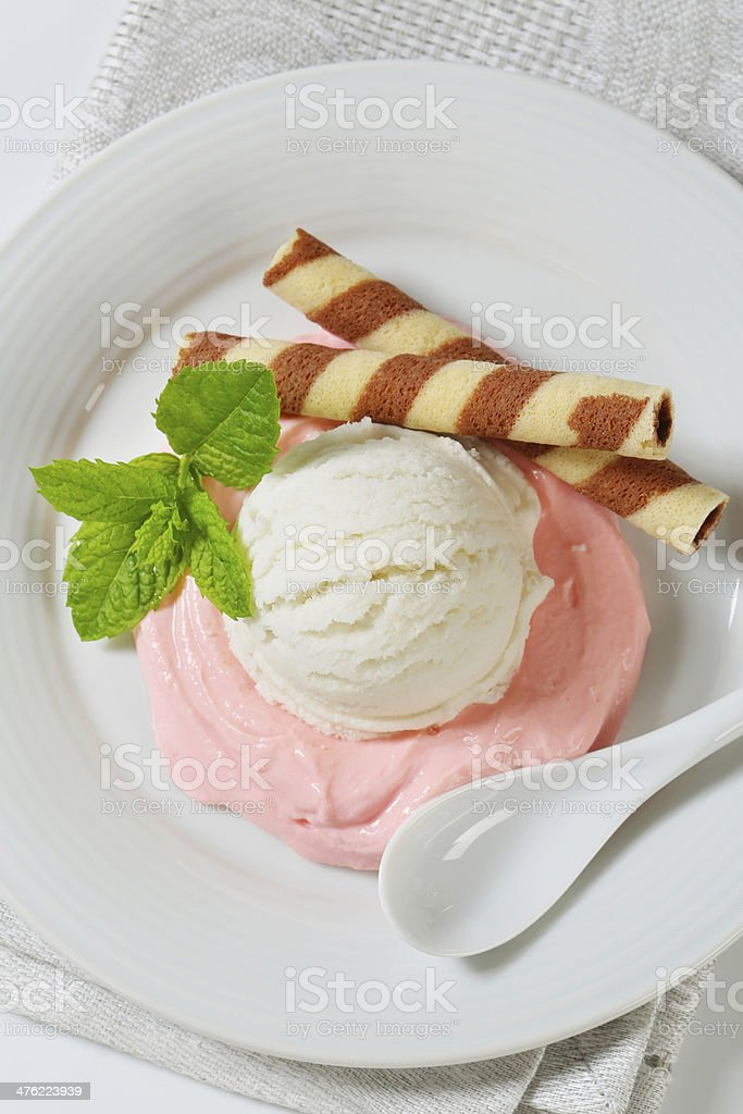 ice cream dessert royalty-free stock photo
