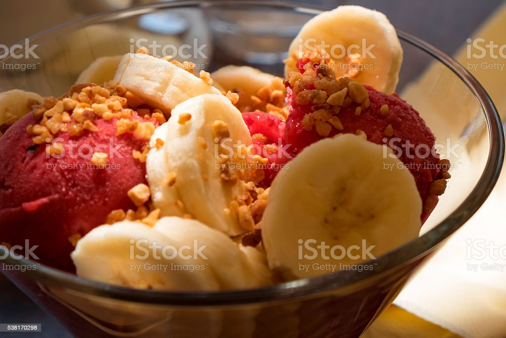 ice cream dessert stock photo