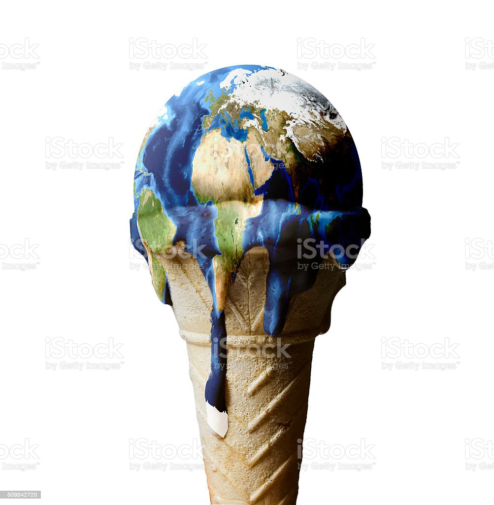 ice cream earth stock photo