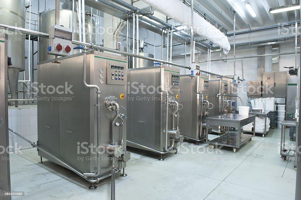 Ice Cream Factory stock photo