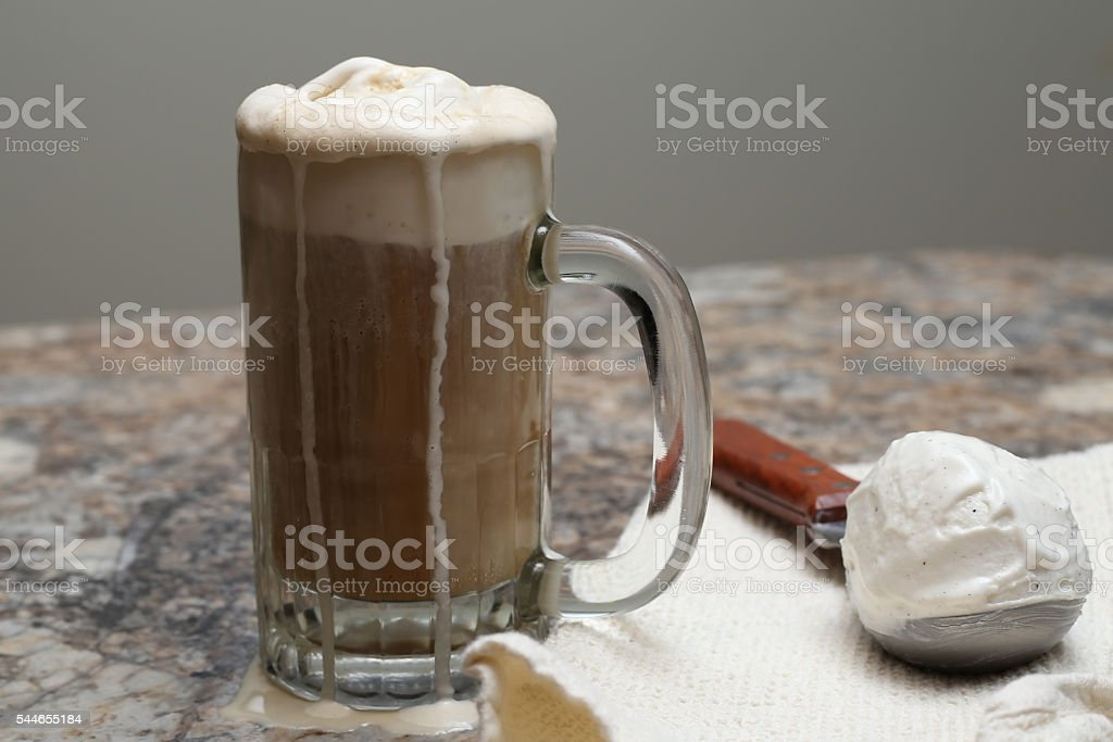 Ice cream float stock photo