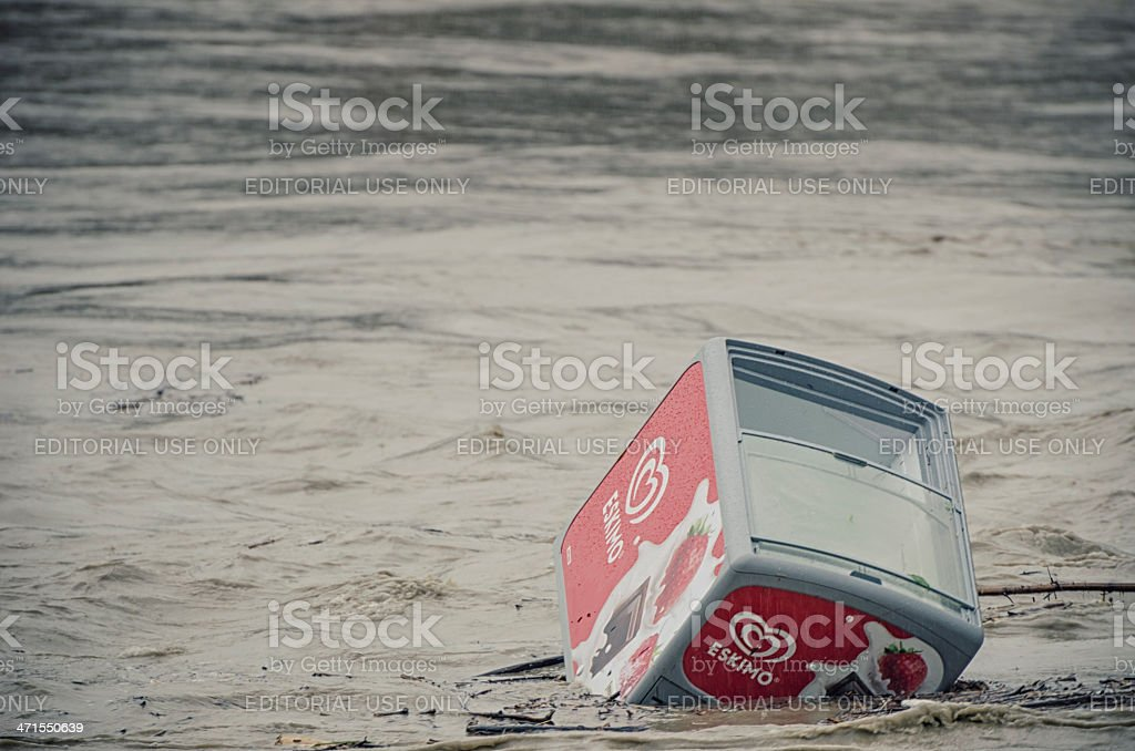 ice cream - Flood in Burghausen June 2013 royalty-free stock photo
