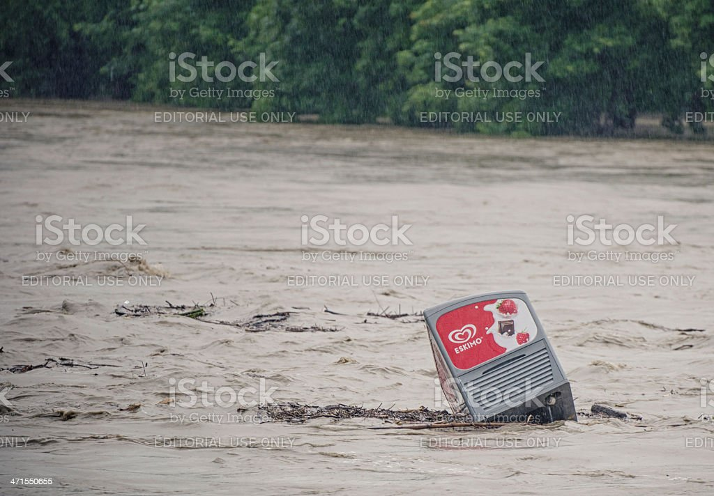 ice cream - Flood in Burghausen June 2013 royalty-free stock photo