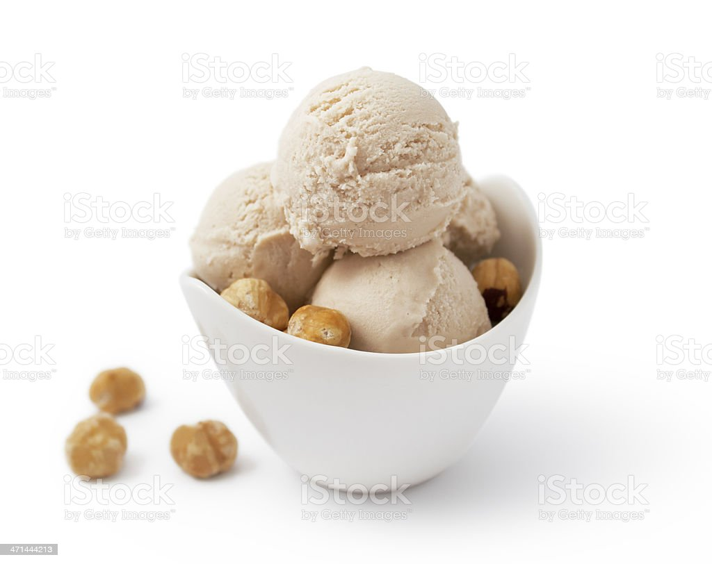 Ice Cream - Hazelnut stock photo