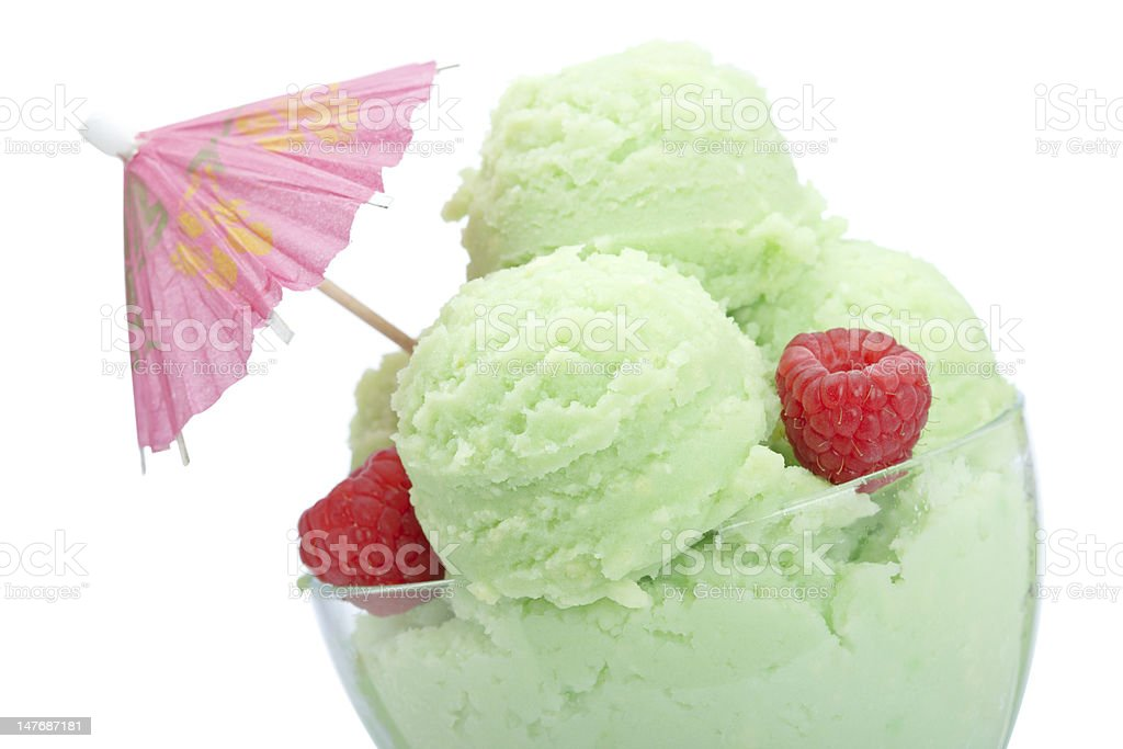 Ice cream in glass bowl royalty-free stock photo