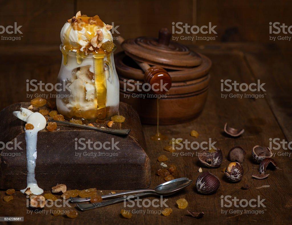 ice cream in vintage style stock photo