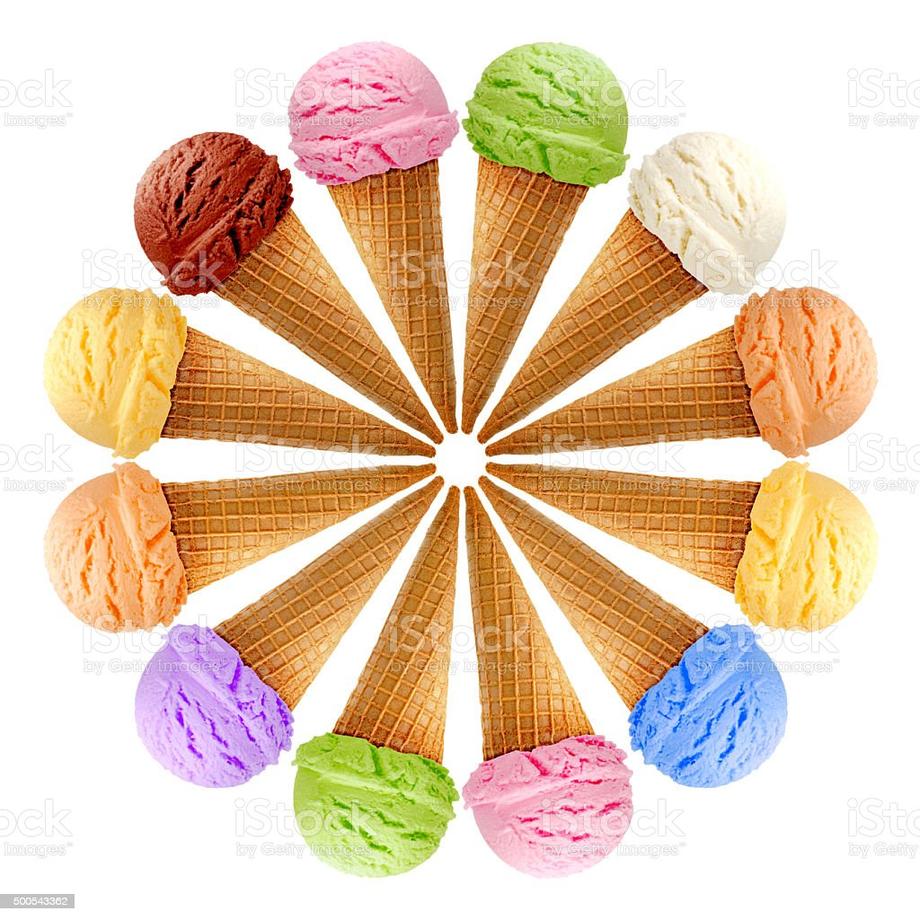 Ice cream mixture stock photo
