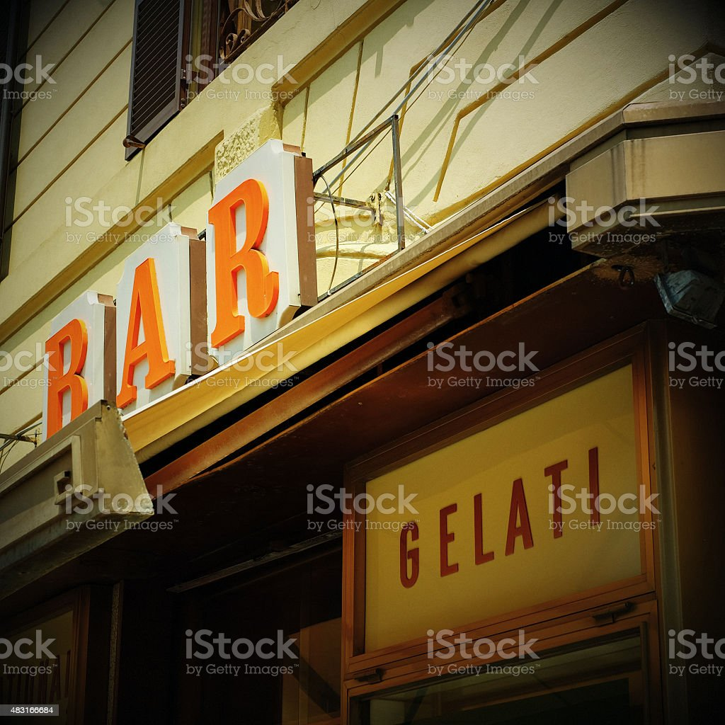 Ice cream parlour with bar - Italy stock photo