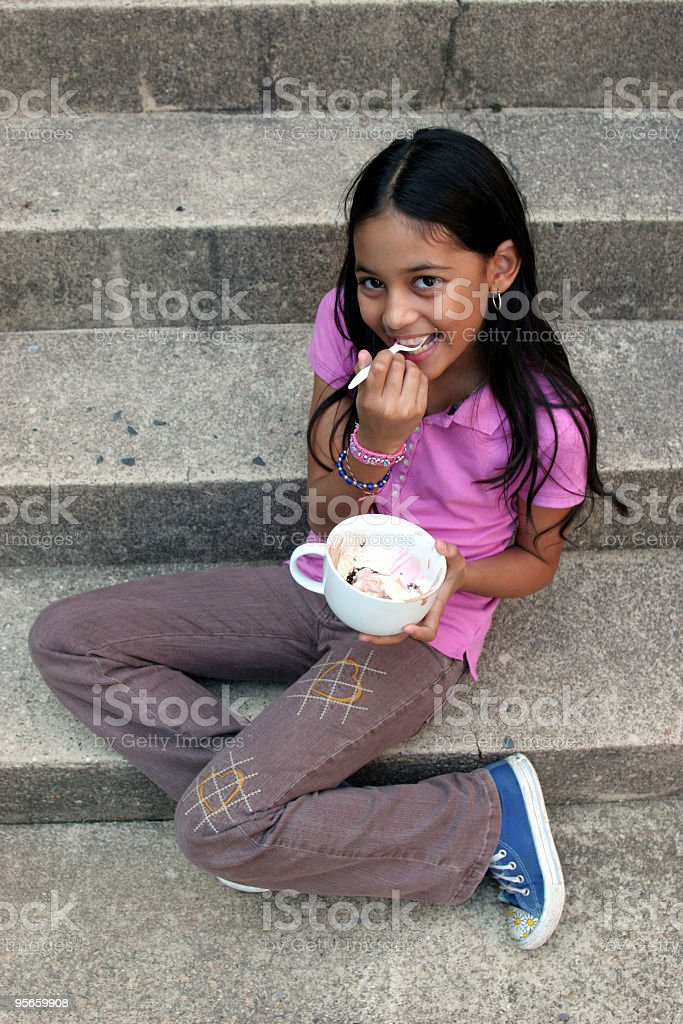 Ice Cream Smile royalty-free stock photo