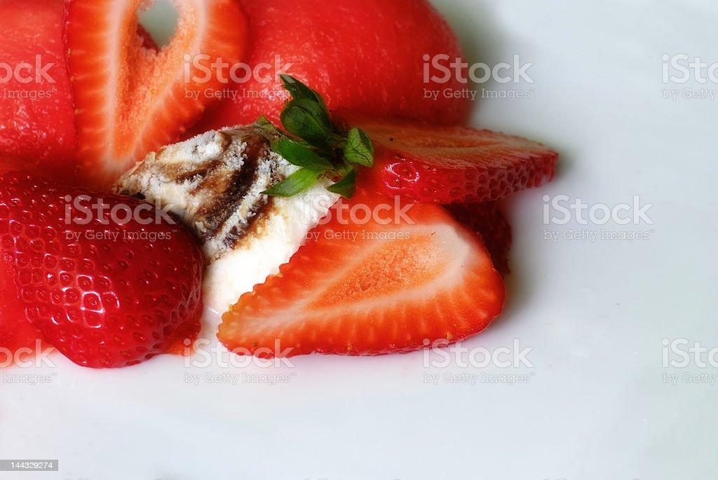 Ice Cream, stawberry, watermelon royalty-free stock photo
