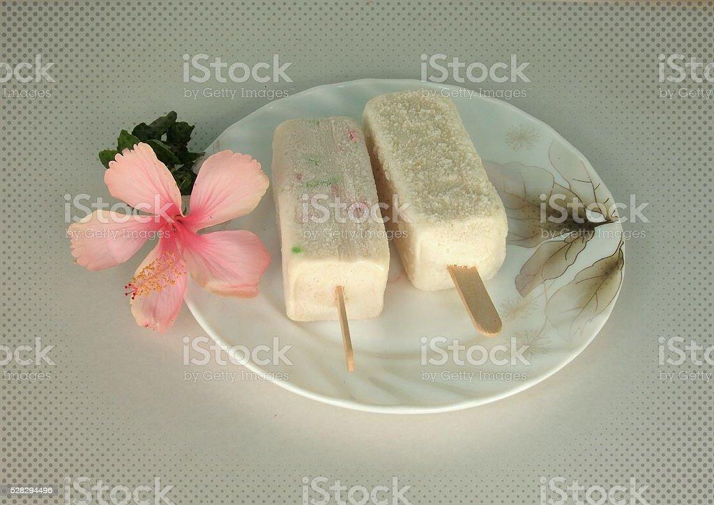 Ice cream sticks stock photo