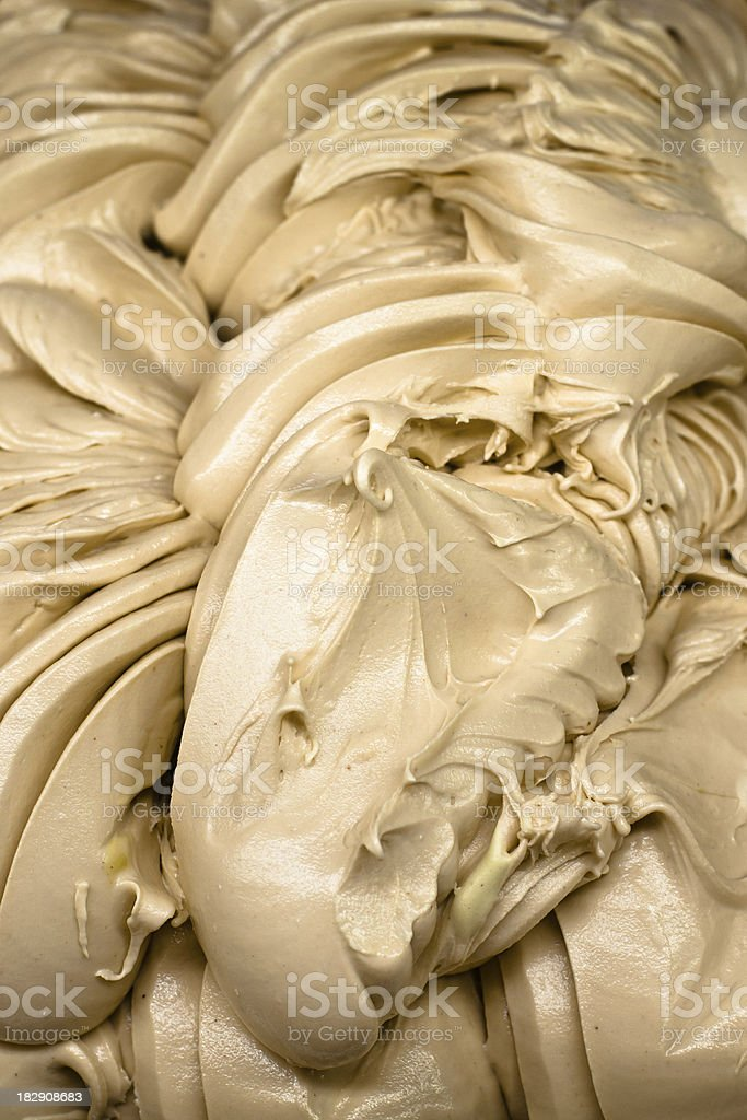 Ice Cream With Almond Flavor royalty-free stock photo